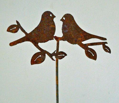 Elegant Garden Design Love Birds Pick (set of 3)