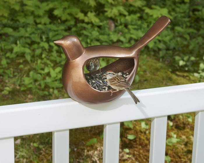 Good Directions Enchanted Bird Venetian Bronze Bird Feeder