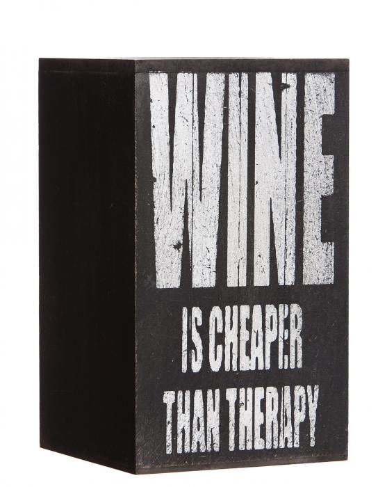 Evergreen Enterprises Wine is Cheaper than Therapy Bottle Holder, Plock