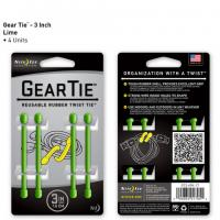 """Nite-ize Gear Tie 3"""" 4 Pack - Lime"""