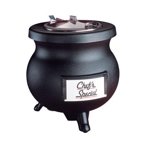 Tomlinson Black 8 qt Deluxe Frontier Soup Warming Kettle, 120 Volt