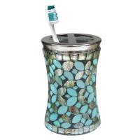 Nu Steel Sea Foam Mosaic Toothbrush Holder