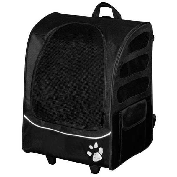 "Pet Gear I-GO Plus Traveler Carrier / Car Seat / Backpack Black 13.5"" x 17"" x 21"""