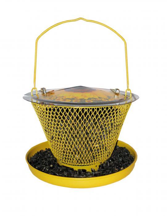 No-No Feeder Designer Sunflower Single Bird Feeder with Tray