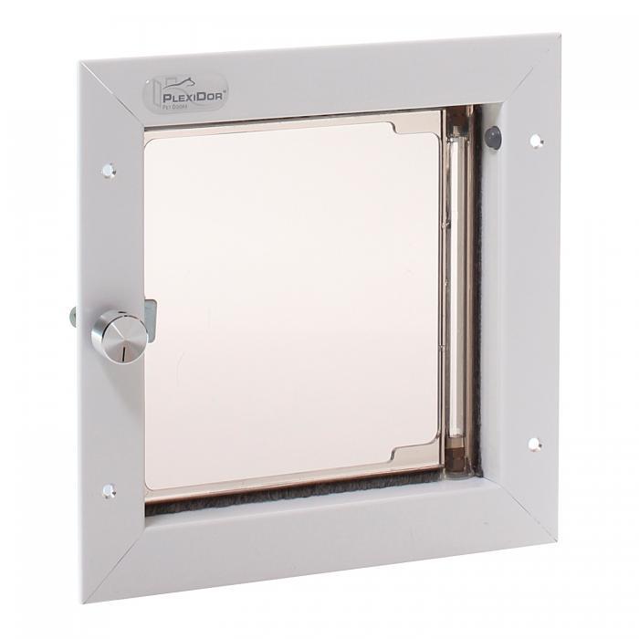 PlexiDor Small Exterior Door Application Performance Pet Door, White