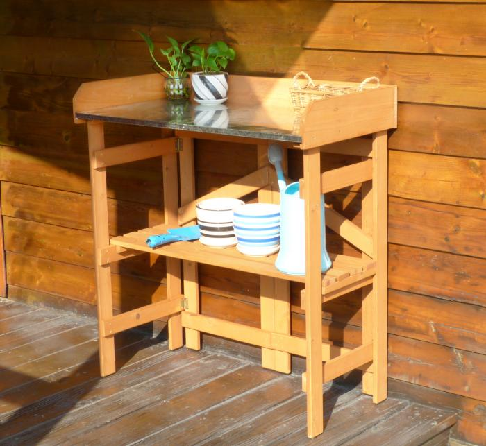 Merry Products Folding Utility Table & Potting Bench