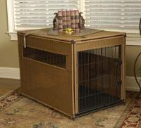 "Simpson Ventures Mr. Herzher's Pet Residence - Dark Brown Wicker - M 30""L X 21""W X 24""H"