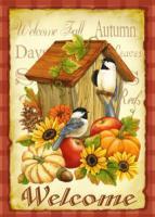 Toland Autumn Birds Standard Size Garden Flag