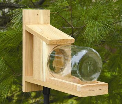 Songbird Essentials Cedar Squirrel Jar Feeder