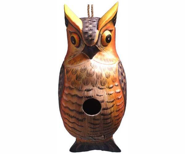 Bobbo Great Horned Owl Birdhouse