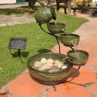 Smart Solar Solar Cascade Ceramic Fountain