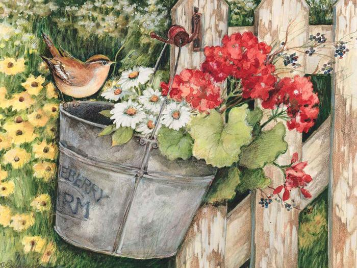 Willow Creek Press Floral Fence 300 Piece Puzzle