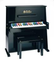 Schoenhut Day Care Durable Spinet  37-Key 3-Octave Piano, Black