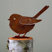 Elegant Garden Design Fat Chickadee Bird Silhouette