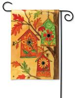 Magnet Works Fall Birdhouses Garden Flag