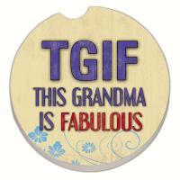 Counter Art Grandma Fabulous Car Coaster