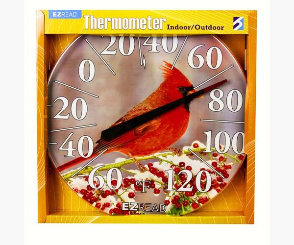 Winter Cardinal Thermometer 12.5inch