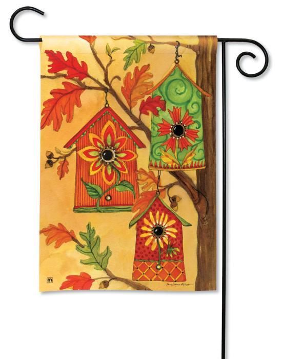 Magnet Works Fall Birdhouses Garden Flag