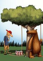 Tree Free Greetings Bear Trap Birthday