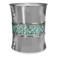 Nu Steel Sea Foam Mosaic Wastebasket