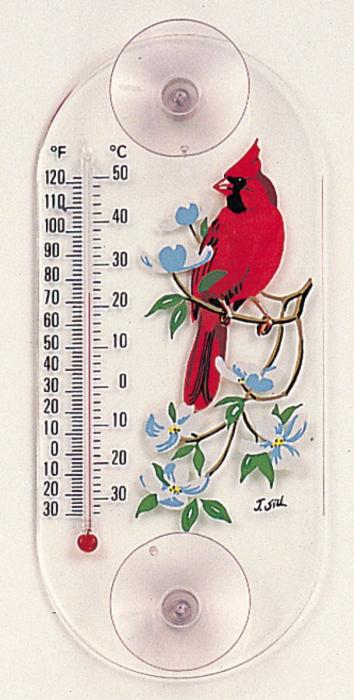 Aspects Cardinal Dogwood Window Thermometer