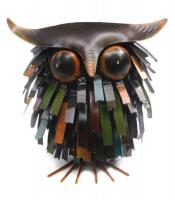 Blue HandWorks Spikey Owl Sculpture