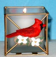 Songbird Essentials Cardinal Candle Holder