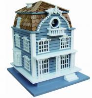 Home Bazaar Sag Harbor Birdhouse - Blue with Mansard Roof
