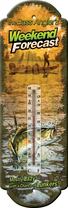 Rivers Edge Products Weekend Forecast Tin Thermometer