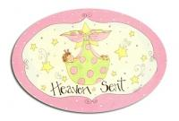 Oval Room Plaque With Ribbon- Heaven Sent