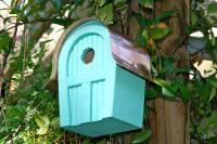 Heartwood Twitter Junction Bird House, Turquise