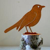 Elegant Garden Design Robin Bird Silhouette