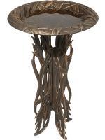 Whitehall Dragonfly Birdbath & Pedestal - Oil Rub Bronze