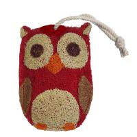 Loofah Art Red Owl