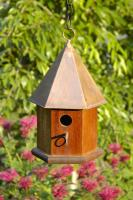Heartwood Copper Songbird Birdhouse, Solid Mahogany with Copper Roof