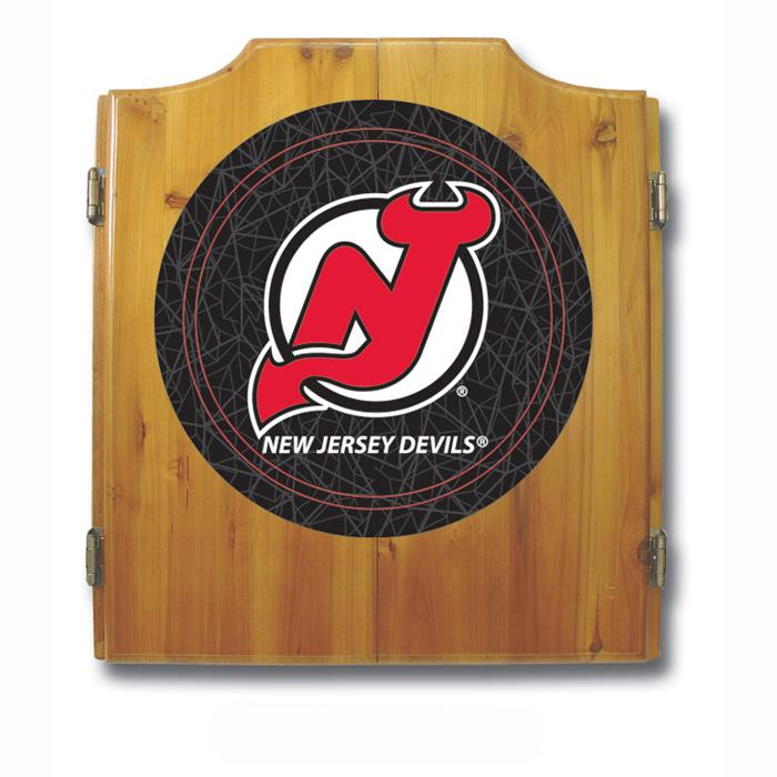 Nhl New Jersey Devils Dart Cabinet Includes Darts And Board