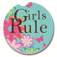 Counter Art Girls Rule Car Coaster