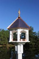 Heartwood Carousel Cafe' - White Cellular PVC/Bright Copper Roof Bird Feeder