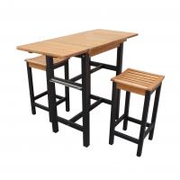 Merry Products Kitchen Island Table Two Stool Set