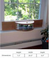 Coveside Mirrored Panoramic In-House Window Bird Feeder