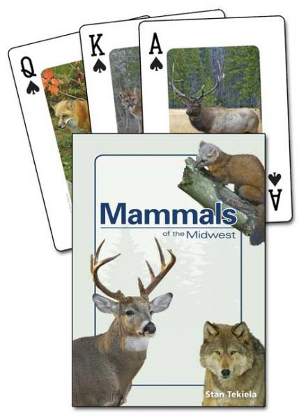 Adventure Publications Mammals of the Midwest Playing Cards