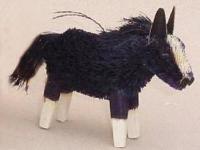 Brushart Horse Black Ornament