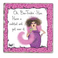 Counter Art Boo-Hoo Single Tumbled Tile Coaster