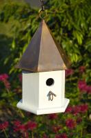 Heartwood Copper Songbird Birdhouse, Brown Patina Roof