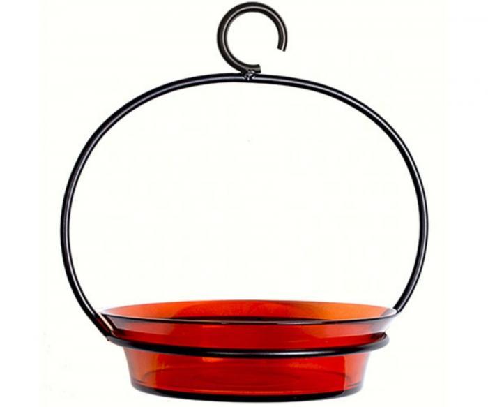 Couronne Company Orange Cuban Bowl Birdbath