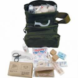Elite First Aid Black M3 Medical Bag with Supplies, GI Style Issue