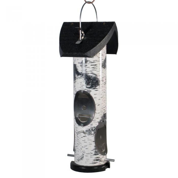 Birch Log Mixed Seed Bird Feeder