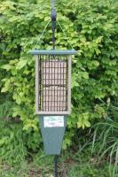 Songbird Essentials Double Suet Bird Feeder Hunter Green Driftwood