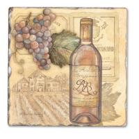 Counter Art Vineyards Single Tumbled Tile Coaster