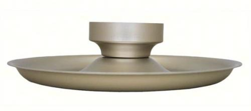 Conant Custom Brass Tray Accessory for Satin Nickel Birdfeeder